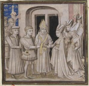 Mariage de Jean V de Bretagne et de Jeanne de France