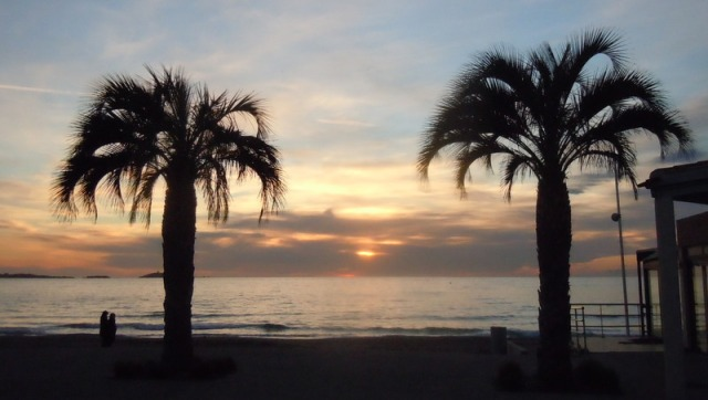 plage de Six-Fours, le 23 janvier 2012