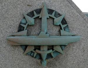 insigne de sous-marinier sur le mémorial