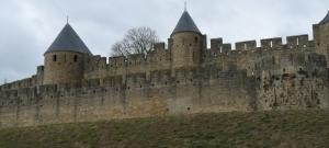 la Cité vue de l'extérieur, au niveau de la Porte Saint-Nazaire