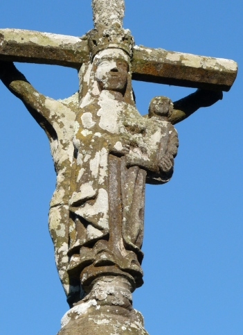 calvaire en pierre de Kersanton - croix de 1515