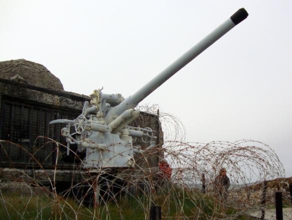 canon de 88 de l'U-Boat 766