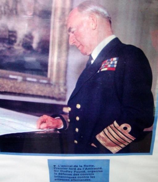 l'amiral de la flotte, Premier Lord de l'Amirauté, Sir Dudley Pound