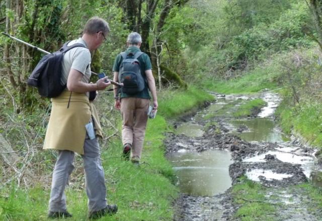 chemin près de Gourlaouen, gorgé d'eau