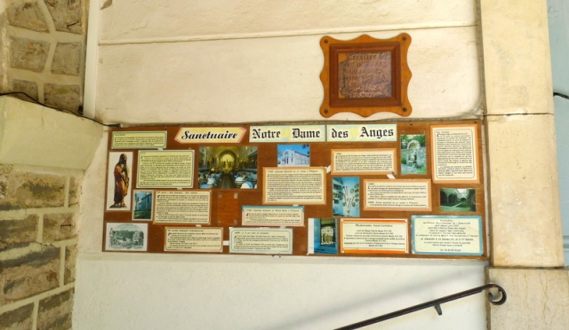 signalétique de l'historique du sanctuaire