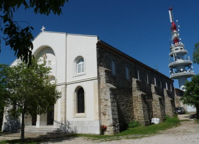 le sanctuaire vu d'ouest