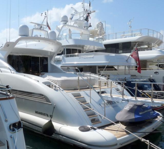 quelques yachts